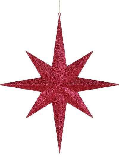 24 inch 8-Point Glitter Star For Christmas 2014
