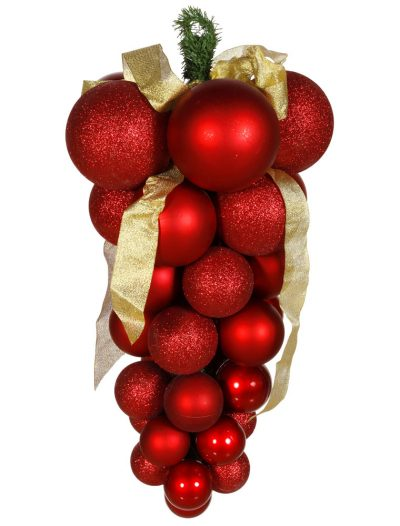 24 inch Glaze-Glitter-Matte Grape Cluster For Christmas 2014