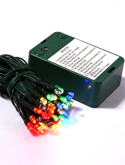 35 LED lights on Battery Operated Timer with 5in Spacing on Brown Wire For Christmas 2014