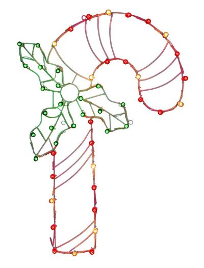 48 x 32 inch Candy Cane Wire Silhouette: C7 Lights For Christmas 2014