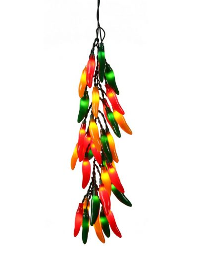 48 inch Chili Christmas Pepper Lights in a Bunch: All-Lit Lights For Christmas 2014