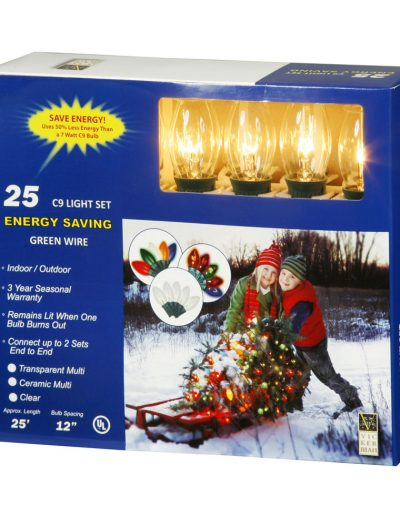 25 foot C9 Clear Light String For Christmas 2014