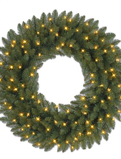 10' Berkshire Mountain Fir Artificial Christmas Garland with Clear Lights (Christmas Tree)