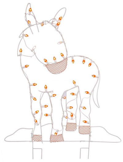 47 x 31 inch Donkey Wire Silhouette: C7 Lights For Christmas 2014