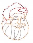 48 x 34 inch Santa Head Wire Silhouette: C7 Lights For Christmas 2014