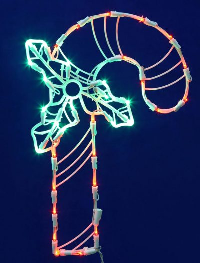 17 x 11 inch LED Light Candy Cane For Christmas 2014