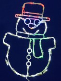 17 x 12 inch LED Light Snowman For Christmas 2014