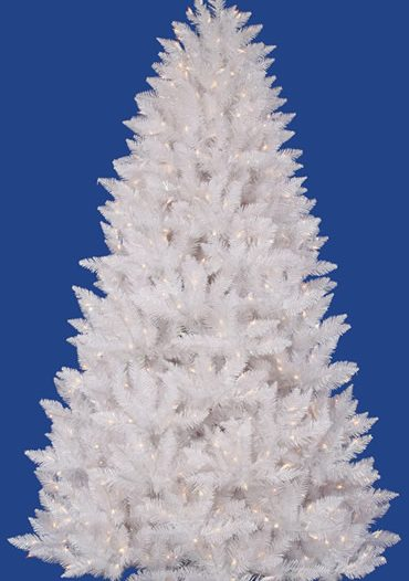 "Vickerman 18421 - 6.5' x 46"" Crystal White Spruce 600 Clear Lights Christmas Tree (A104166) (Christmas Tree)"