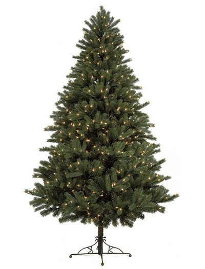 7.5 foot Full Mixed Spruce Christmas Tree: Clear Lights For Christmas 2014