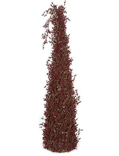 4 foot Berry and Twig Cone Topiary Set of (2) For Christmas 2014