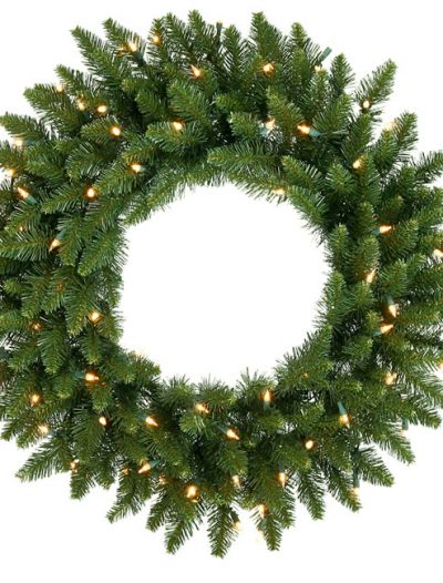 Vickerman A861031 30 Camdon Wreath 170T 100CL IndoorOutdoor (Christmas Tree)