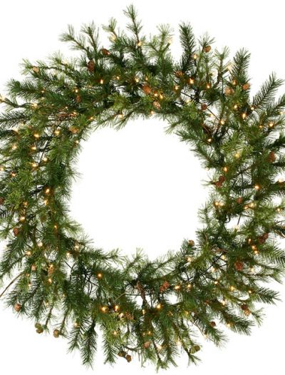 Vickerman A801837 36 Prelit Mixed Country Wreath 100CL (Christmas Tree)