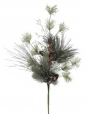 30 inch Frosted Ponderosa Bay Leaf Berry Twig Pine Christmas Spray For Christmas 2014