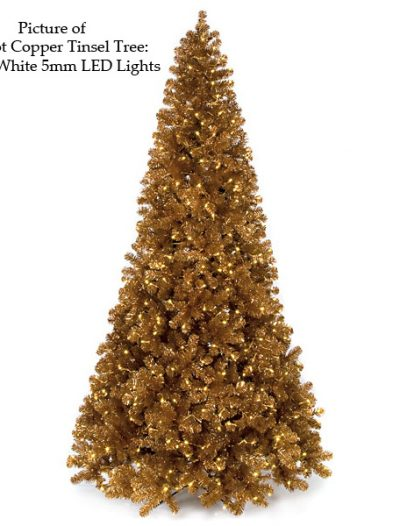 Copper Tinsel Christmas Tree For Christmas 2014