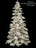 Heavy Flocked Snow Christmas Tree For Christmas 2014