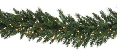 16 in. x 9 ft. Imperial Pine Pre-lit Garland (Christmas Tree)