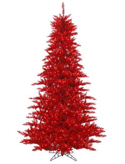 Red Tinsel Christmas Tree For Christmas 2014