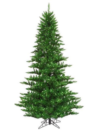 Green Tinsel Christmas Tree For Christmas 2014