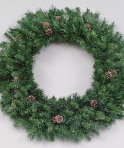 12-Foot Vickerman Cheyenne Pine Christmas Wreath with 3750 Tips (Christmas Tree)