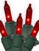 Vickerman W5G0553 50 Light Red Dura-Lit-Green Wire Ec (Christmas Tree)