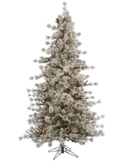 Artificial Flocked Anchorage Christmas Tree For Christmas 2014