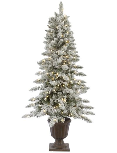 6 Foot Nordic Potted Flocked Christmas Tree: Italian LED Lights For Christmas 2014