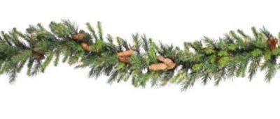 "Vickerman 02668 - 9' x 14"" Cheyenne Pine with Pine Cones Christmas Garland (A800916) (Christmas Tree)"