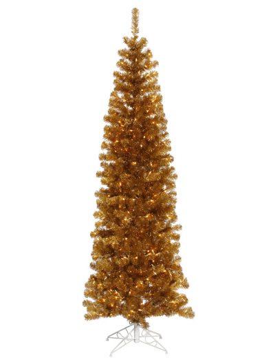 Antique Gold Slim Christmas Tree For Christmas 2014