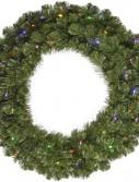 Vickerman 96 in. Pre-Lit LED Grand Teton Wreath - Multi Colored (Christmas Tree)