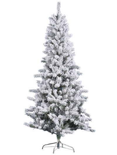 Heavy Flocked Slim Pine Christmas Tree For Christmas 2014