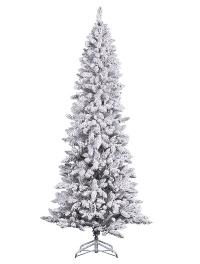 Heavy Flocked Pencil Pine Christmas Tree For Christmas 2014