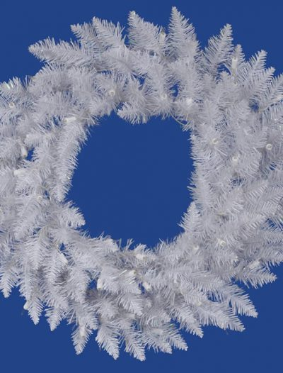 "Vickerman 18464 - 60"" Sparkle White Spruce Christmas Wreath (A104260) (Christmas Tree)"