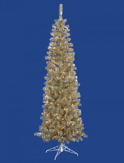 Champagne Pencil Christmas Tree For Christmas 2014