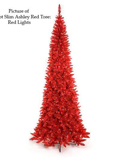 Ashley Red Christmas Tree For Christmas 2014