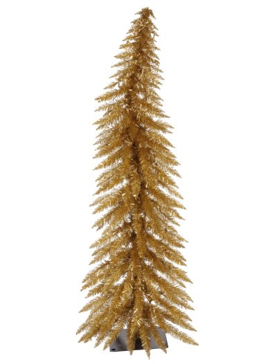 Antique Gold Whimsical Christmas Tree For Christmas 2014