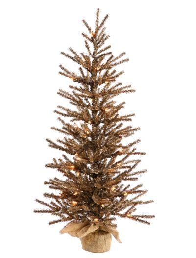 Chocolate Christmas Tree with Burlap Base For Christmas 2014