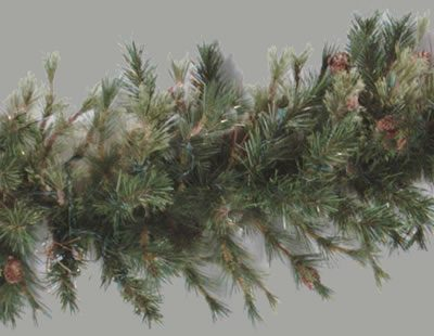16 in. x 9 ft. Mixed Country Pine Unlit Garland (Christmas Tree)