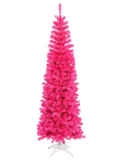 Pink Pencil Christmas Tree For Christmas 2014