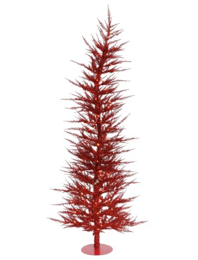 Red Laser Christmas Tree For Christmas 2014