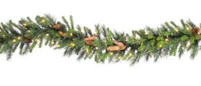 "Vickerman 01558 - 9' x 12"" Cheyenne Garland Dura-Lit 50CL (A800912) Christmas Garland (Christmas Tree)"