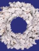 Vickerman A806325 24 Flocked Alaskan Wreath 35CL 96T (Christmas Tree)