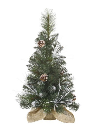 Flocked Mixed Needle Pine Christmas Tree For Christmas 2014