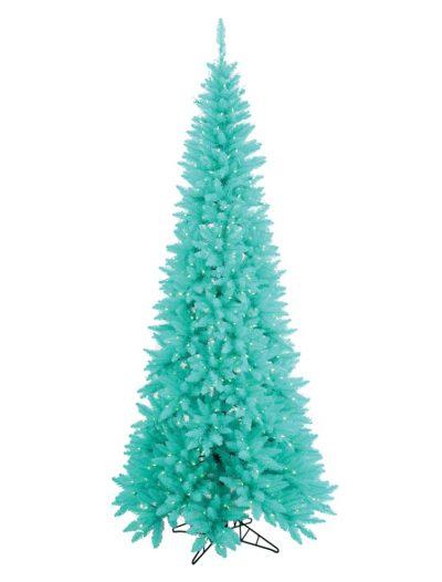 Artificial Aqua Slim Fir Christmas Tree For Christmas 2014