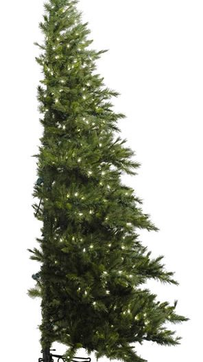Minnesota Pine 90 Westbrook Artificial Half Christmas Tree with Clear Lights (Christmas Tree)