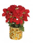 18 Inch Poinsettia Bush: Set of (12) For Christmas 2014