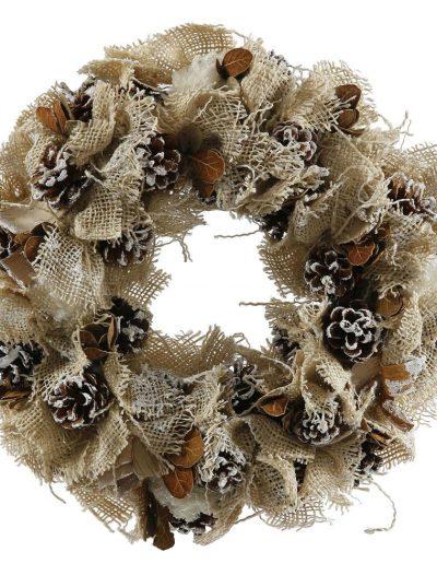 16 inch Burlap Christmas Wreath For Christmas 2014