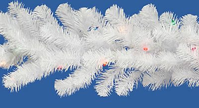Vickerman 9 ft. Crystal White Dura-Lit Garland - 50 Multi Colored (Christmas Tree)