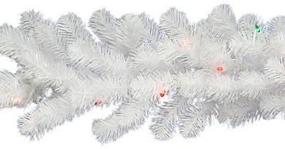 Vickerman 9 ft. Pre-Lit LED Crystal White Garland (Christmas Tree)