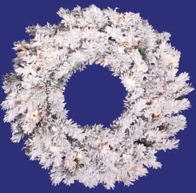 Vickerman A806331 30 Flocked Alaskan Wreath 70CL 120T (Christmas Tree)