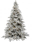 Utica Flocked Pre-lit LED Christmas Tree - A895191LED (Christmas Tree)